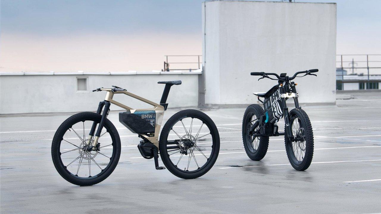 Koncepty kol BMW – i Vision Amby (vlevo) a Vision Motorrad