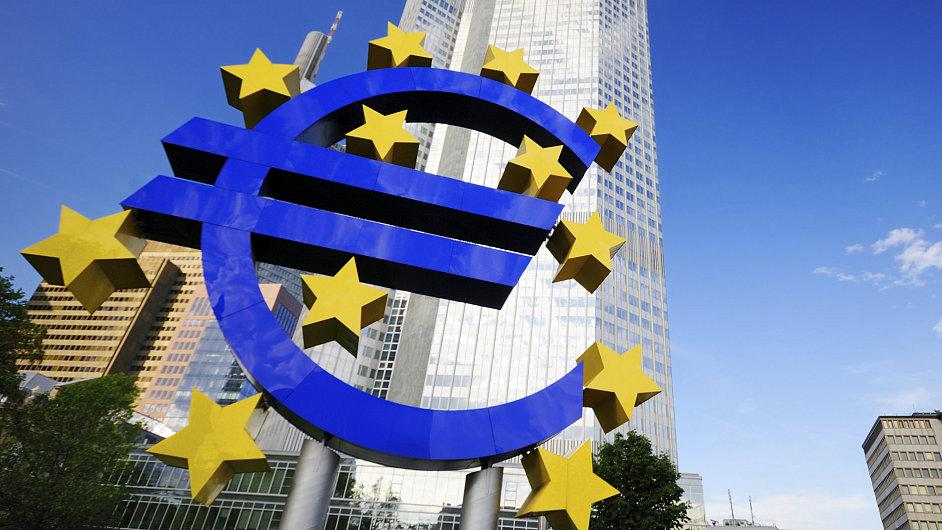 Sídlo Evropské centrální banky v německém Frankfurtu nad Mohanem.