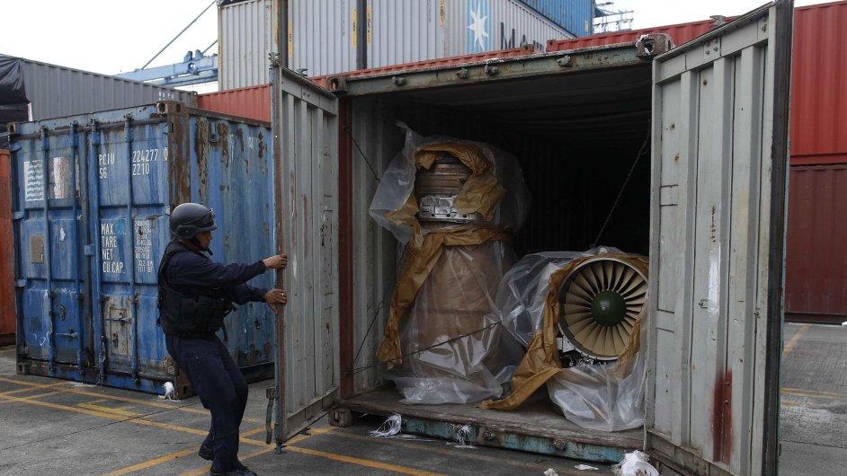Motory do severokorejských stíhaček zadržené v Panamě