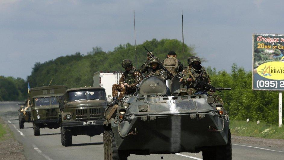 Ukrajinská armáda na východě Ukrajiny. Ilustrační foto