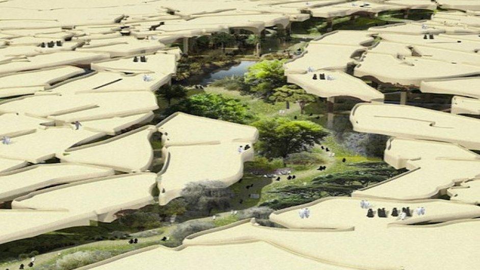 Návrh parku v Abú Dhabi architekta Thomase Heatherwicka