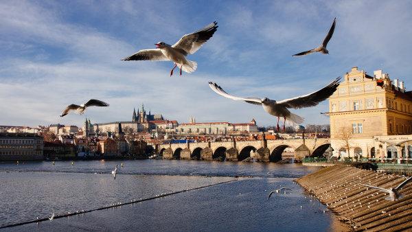 Karl�v most je jeden z nej�ast�j��ch c�l� turist� v Praze.