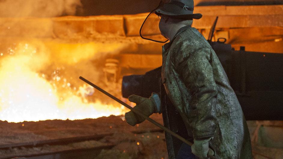 Odpich na vysoké peci č.4 z roku 1923 v Třineckých železárnách