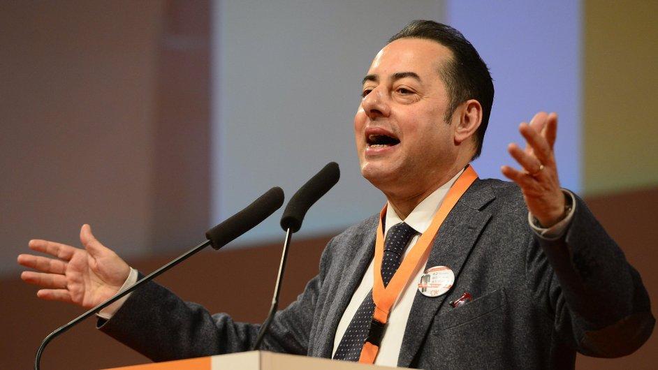 Předseda sociálně demokratické frakce v Evropském parlamentu Gianni Pittella na sjezdu ČSSD.