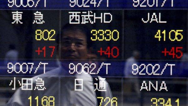 Japonské akcie se dál propadají a prolomily psychologickou hranici - Ilustrační foto.