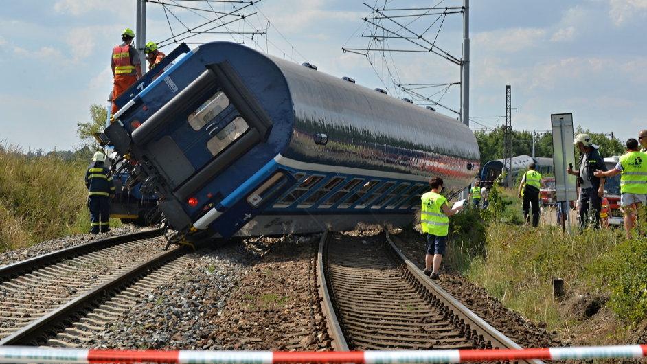 Nehoda, Horažďovice, vlak, vykolejení