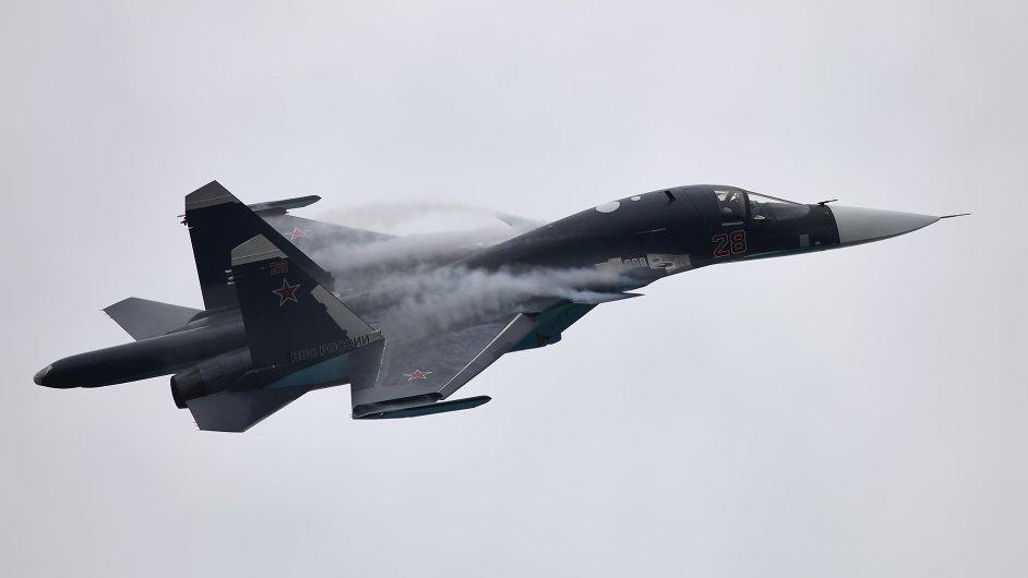 MAKS Airshow 2013 Ramenskoye Airport Russia - Su-34 solo aerobatics