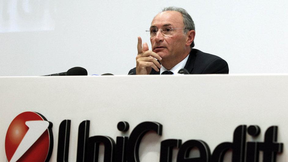 Šéf skupiny UniCredit