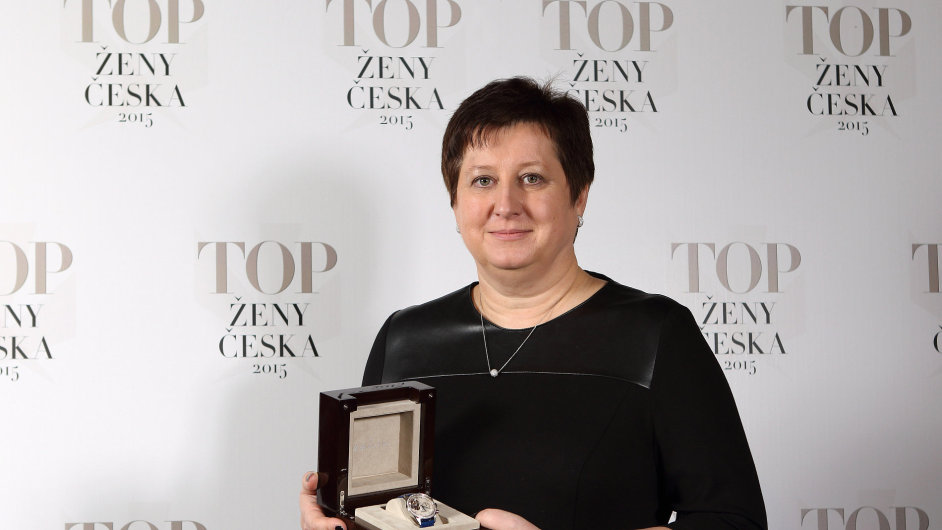 Vítězka kategorie TOP ženy byznysu Petra Procházková, členka představenstva a finanční ředitelka skupiny Agrofert.