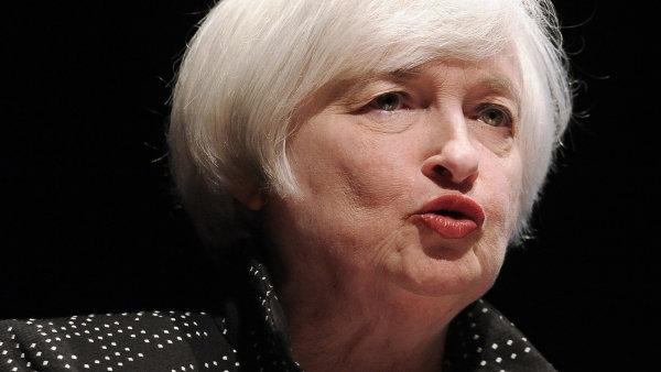 P�edsedkyn� americk� centr�ln� banky Janet Yellenov� uk�zala rizika, p�ed kter�mi stoj� americk� ekonomika.