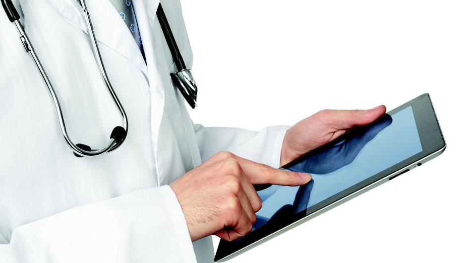 Lékař, zdravotnictví, informační systém, ilustrace