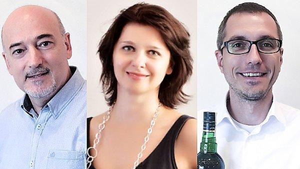Petr Tománek, Zuzana Behová a Jan Doležel, management společnosti GRANETTE&STAROREŽNÁ Destileries