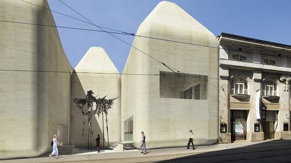 Proluku v sousedství Muzea umění Olomouc pro Středoevropské fórum navrhli Jan Šépka a Václav Derner ze studia Šépka architekti.