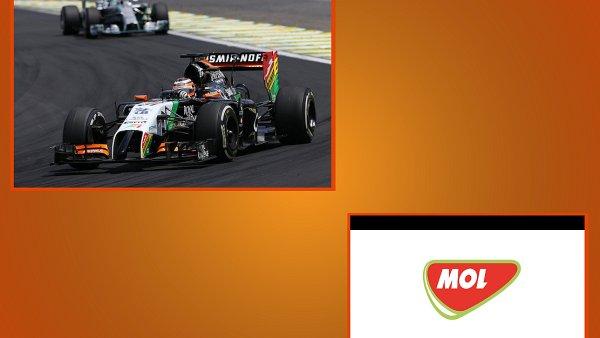 Split-screen reklama při přenosu Formule 1
