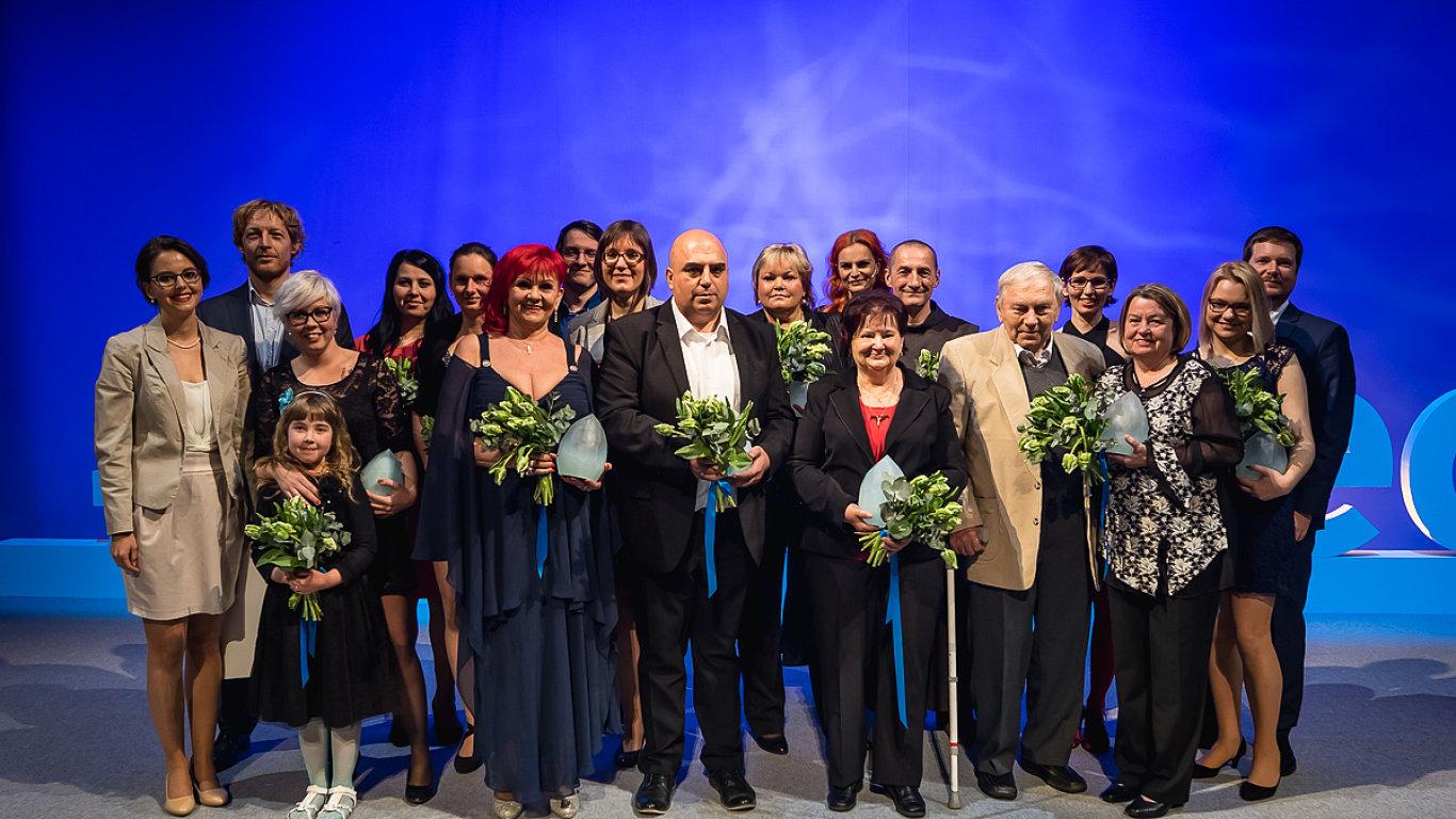 Slavnostní ocenění dvanácti držitelů titulu Laskavec v neděli 23. dubna 2017 ve Stavovském divadle.