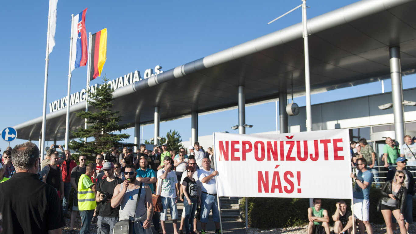 Stávka ve slovenském Volkswagenu trvá od úterý.