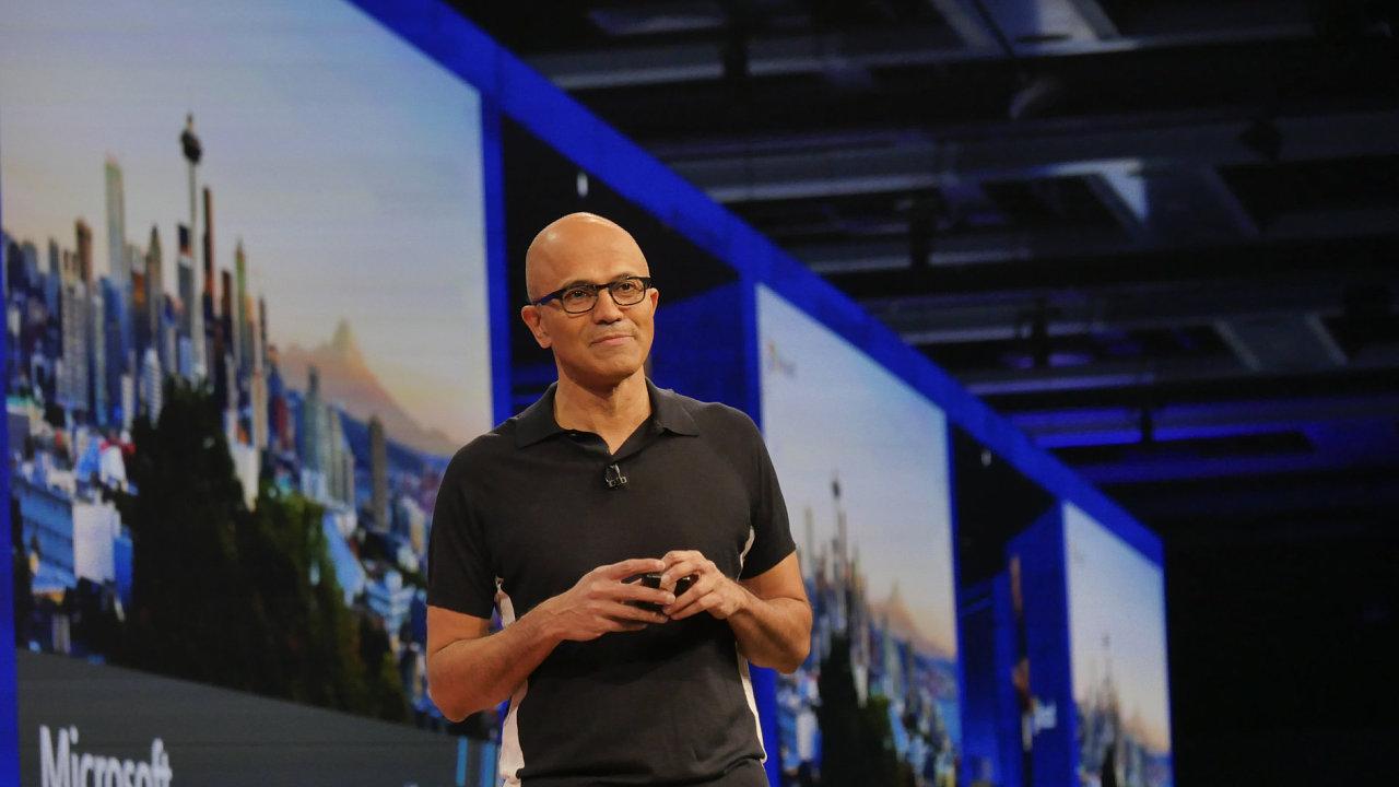Šéf Microsoftu Satya Nadella na konferenci Microsoft Build 2017