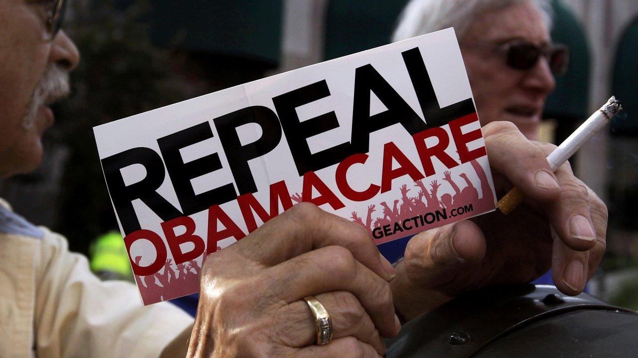 Zrušení Obamacare je největší prioritou republikánské většiny v Kongresu.