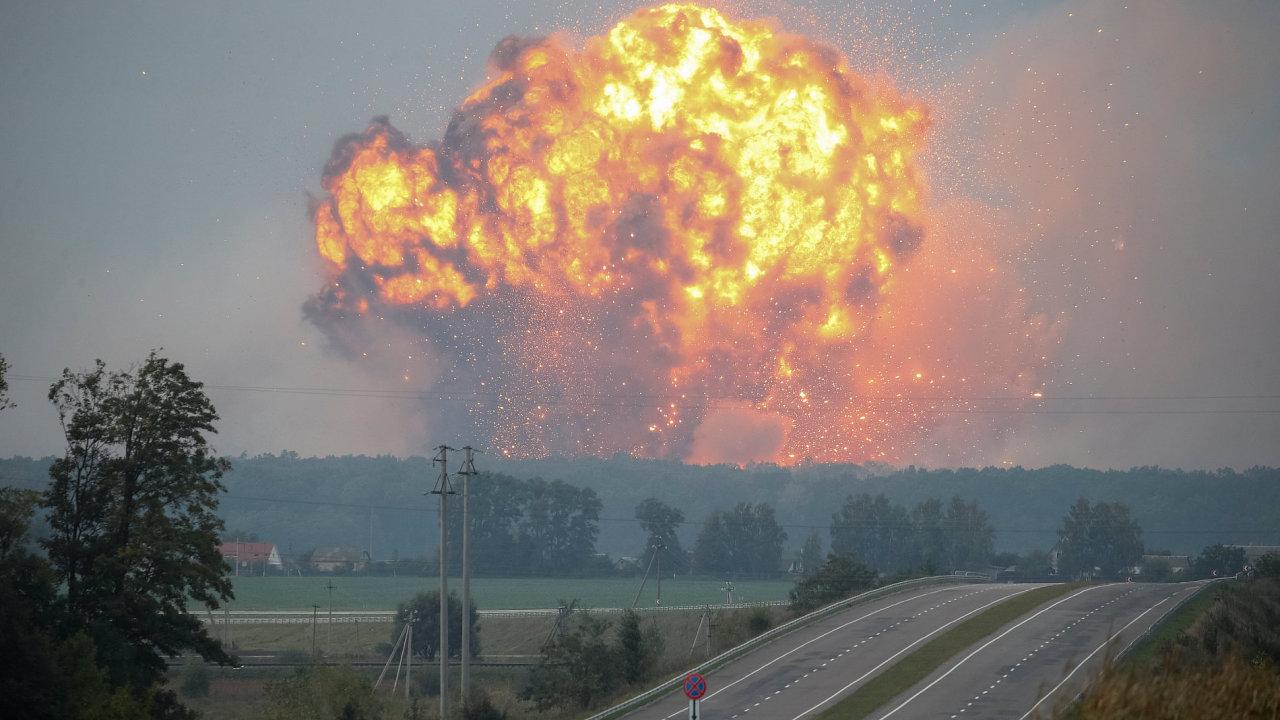 Ukrajina, exploze muničního skladu
