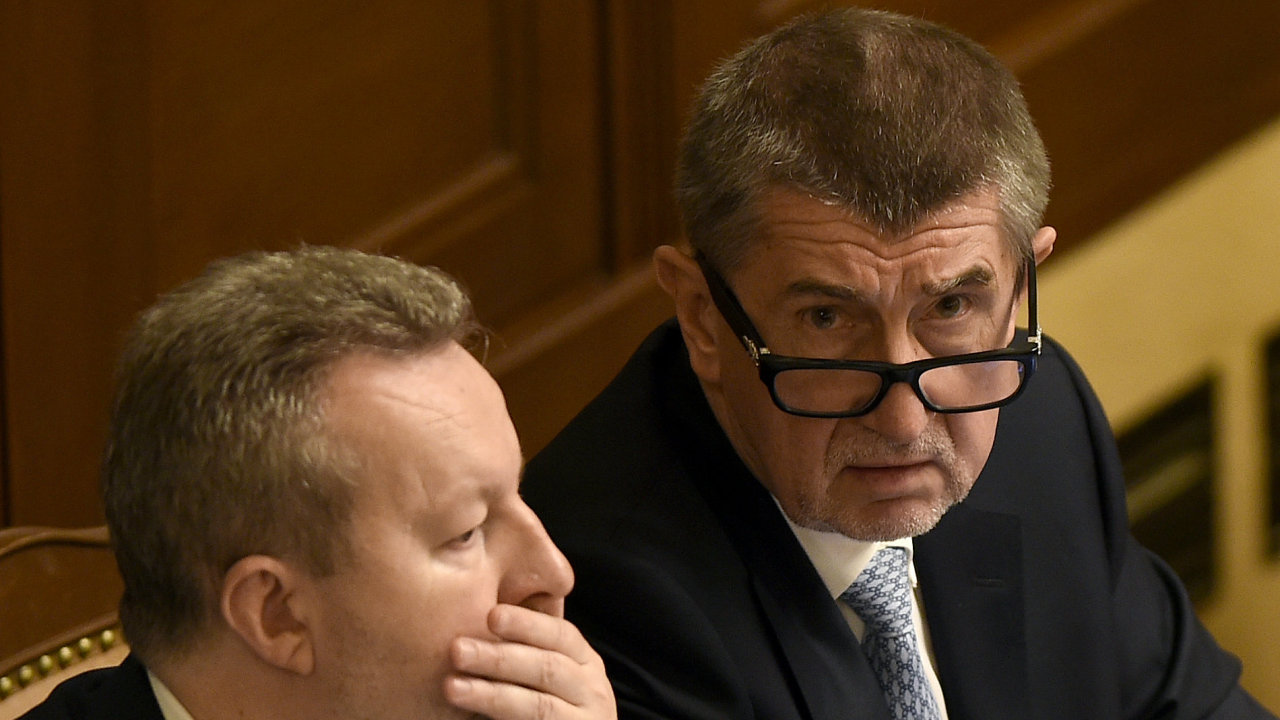 Andrej Babiš ve sněmovně.