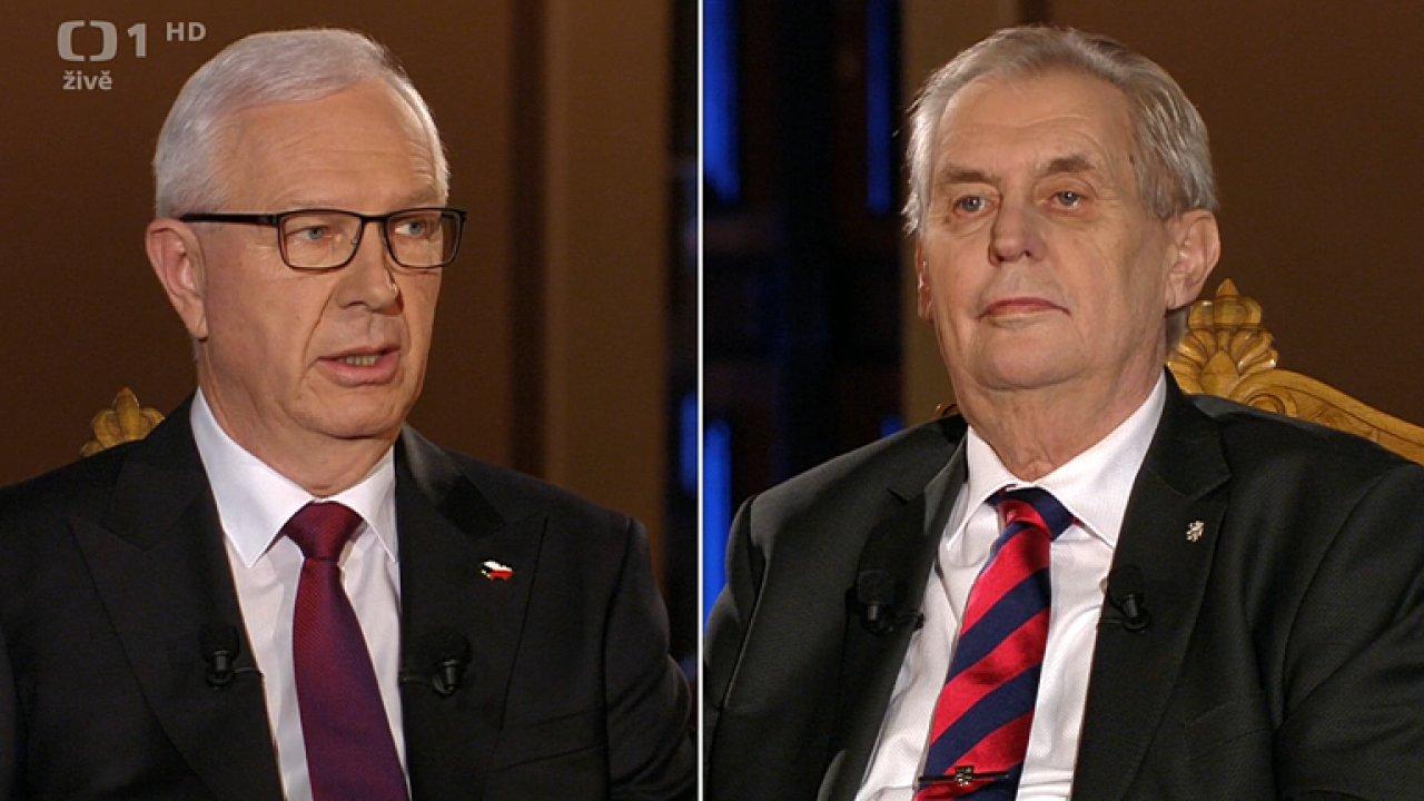 Prezidentská debata na ČT: Došlo i na otázku, zda je v Česku možné, objednat si trestní stíhání