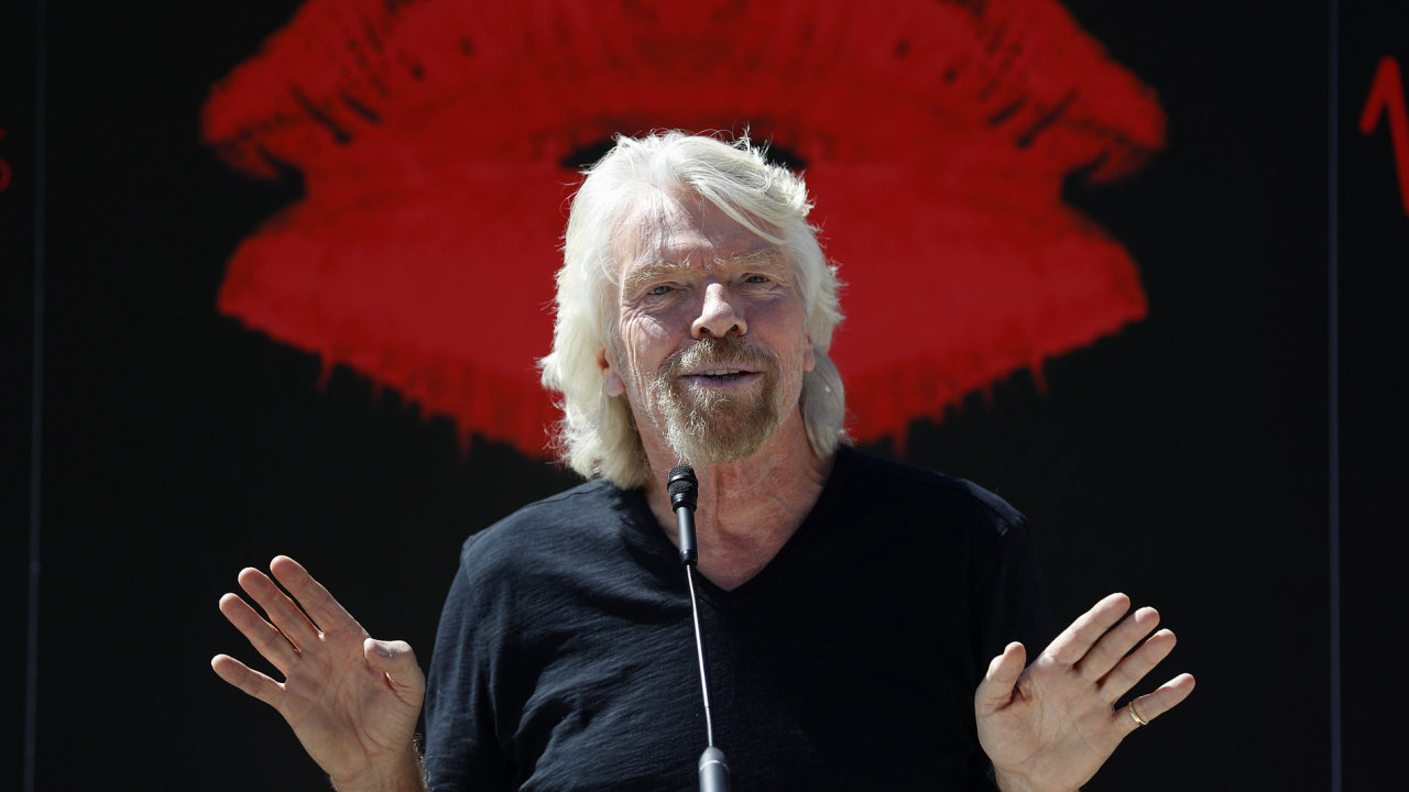 Virgin Group founder Richard Branson speaks at a news conference Friday