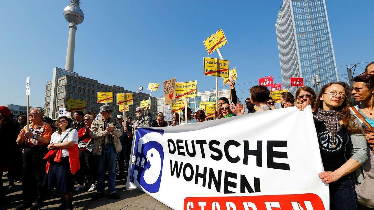 Berlín protest nájmy