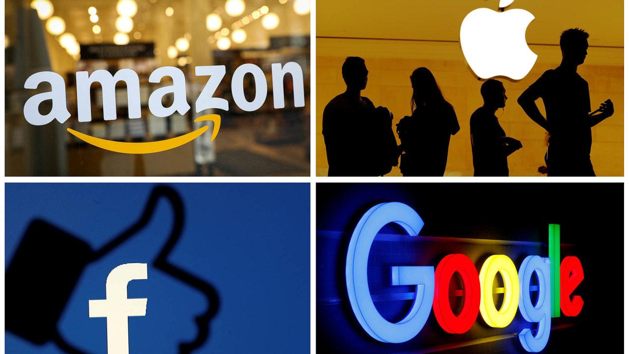 Sedmiprocentní digitální daň by dopadla i na takzvanou velkou čtyřku, kam patří Amazon, Apple, Facebook a Google.