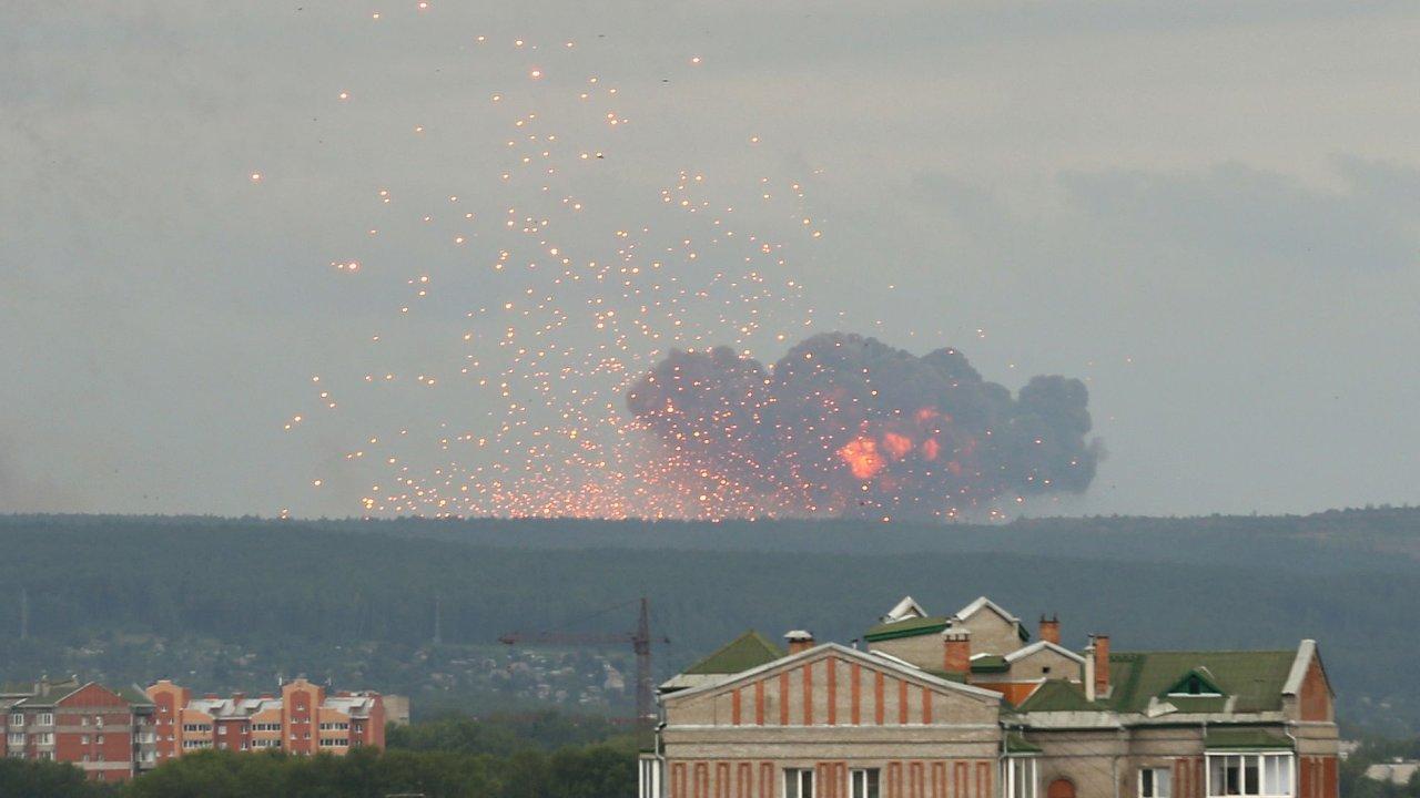 rusko, sklad munice, exploze