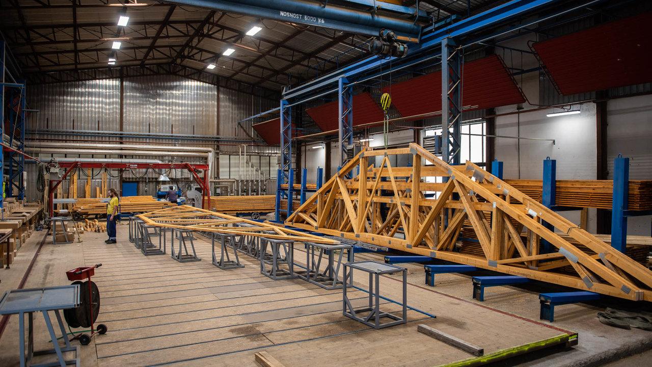 Firma Kasalova pila vyrábí například kostry ke dřevostavbám.