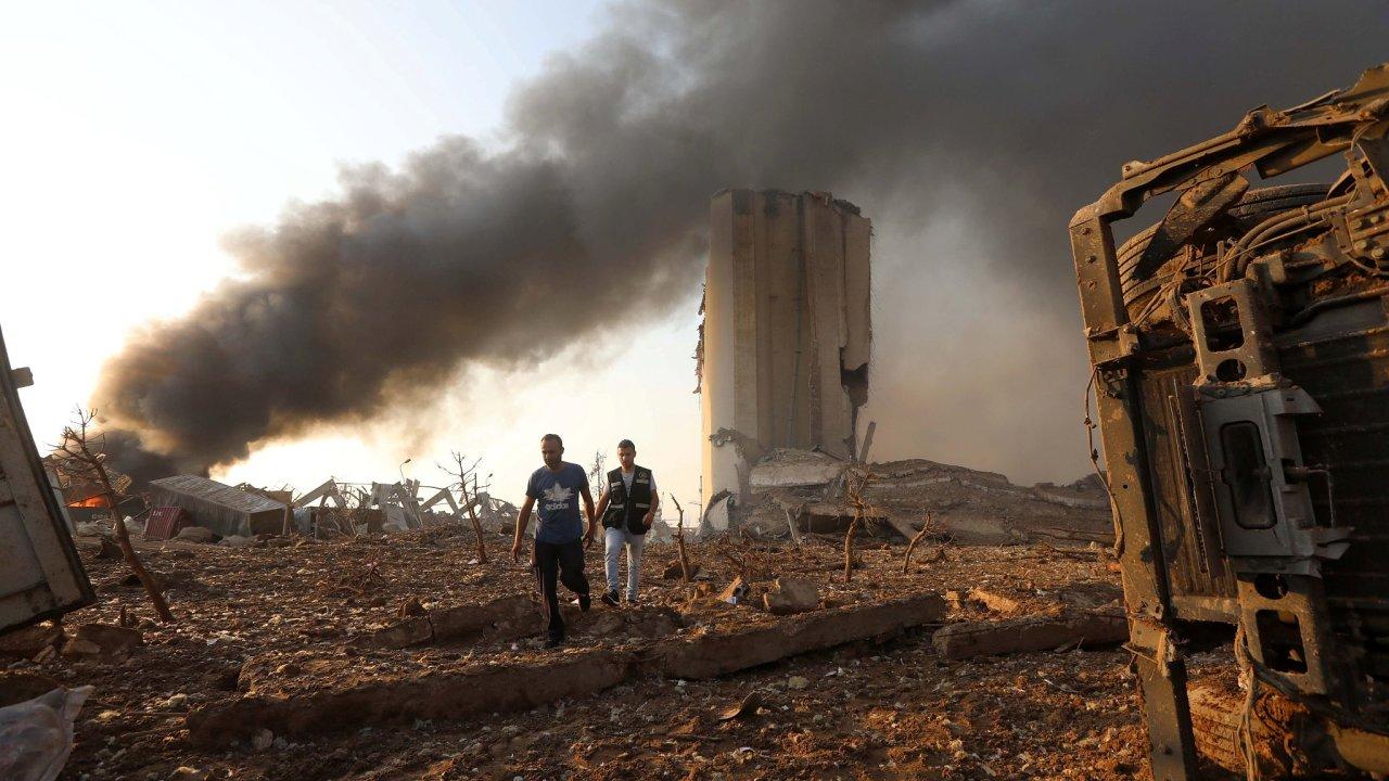 Bejrút Libanon exploze