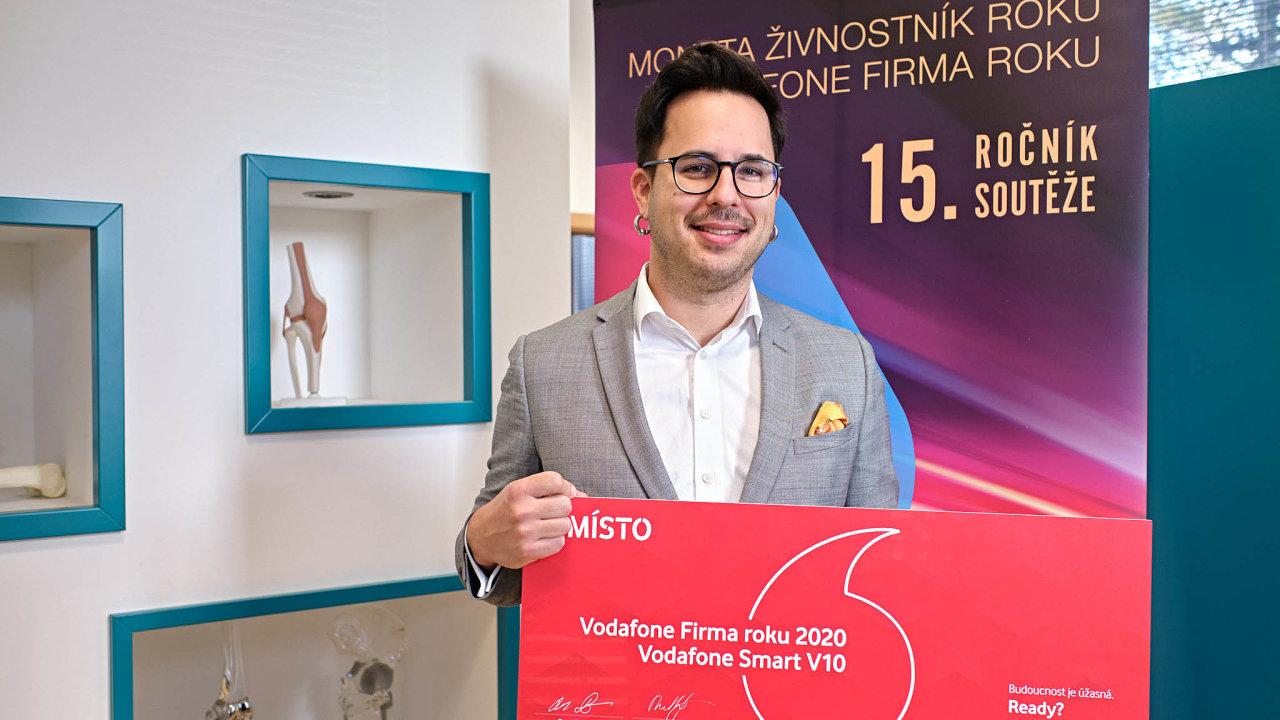 Pavel Milata, marketingový ředitel společnosti BEZNOSKA, Vodafone Firma roku 2020 Středočeského kraje