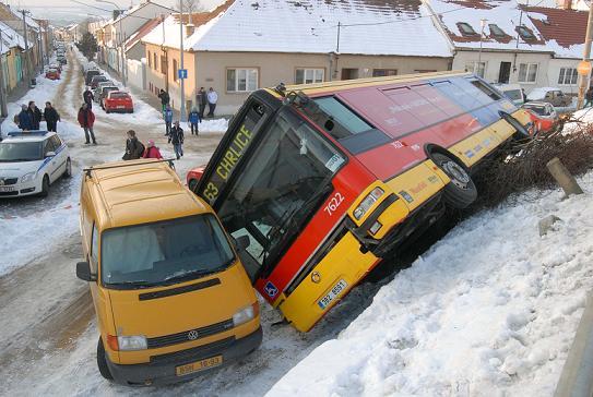 Nehoda autobusu v Brně