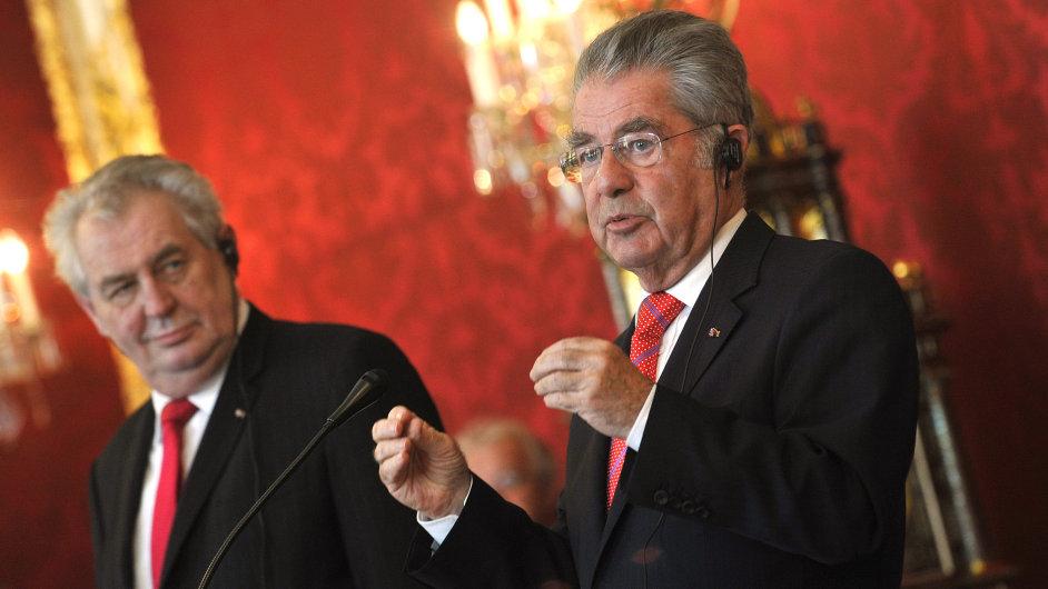 Miloš Zeman na návštěvě Rakouska.