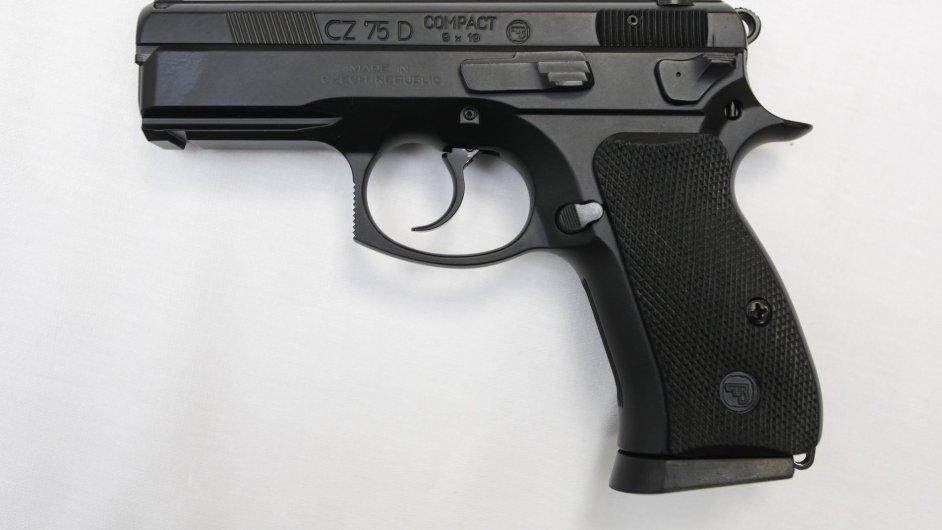 Pistole CZ 75 D - ilustrační foto
