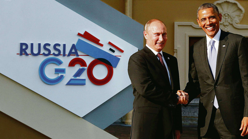 Vladimir Putin (vlevo) a Barack Obama