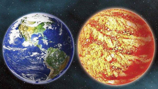 Srovnání velikosti Země a nově objevené planety Kepler -78b