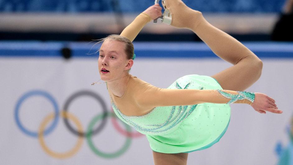 Elizaveta Ukolová v olympijské soutěži v Soči