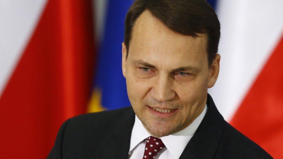 Donedávna polský ministr zahraničí a současný maršálek Sejmu Radoslaw Sikorski