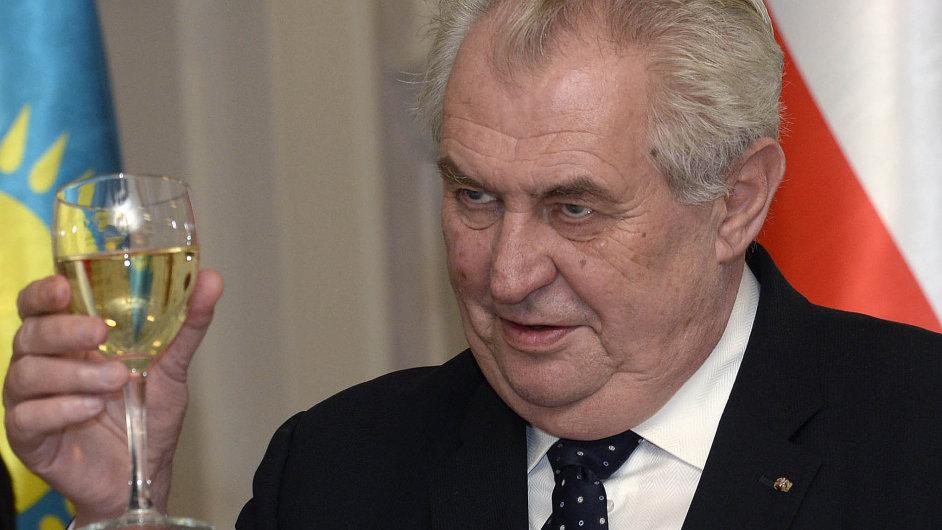 Přípitek Miloše Zemana