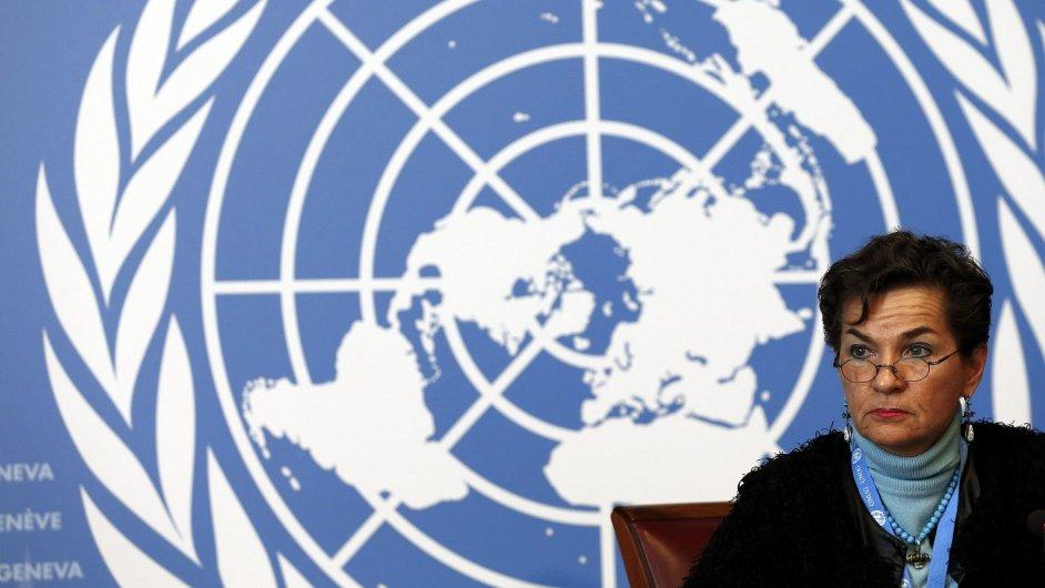 Christiana Figueres z OSN na konferenci o klimatických změnách v Ženeve.