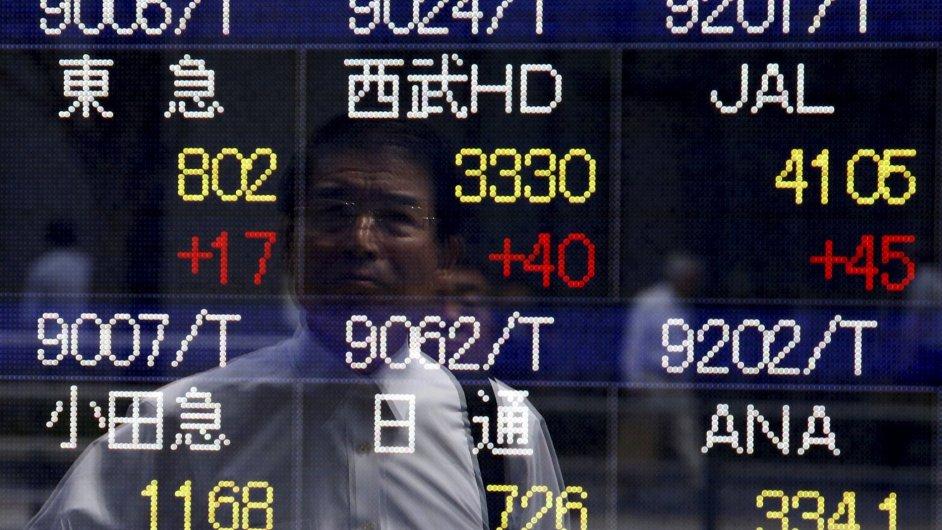 Asijské akciové trhy lámou rekordy. Japonský Nikkei je na novém 15letém maximu - Ilustrační foto.