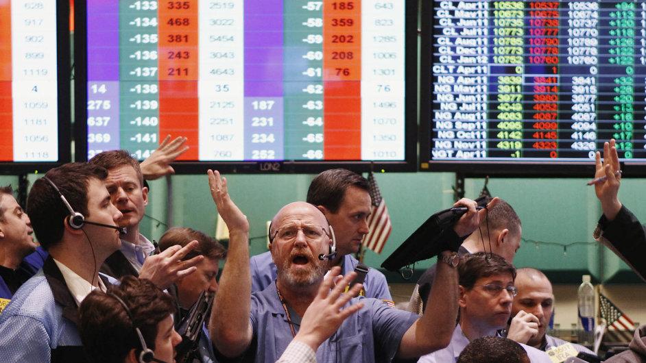 Ilustrační foto z burzy NYMEX (New York).