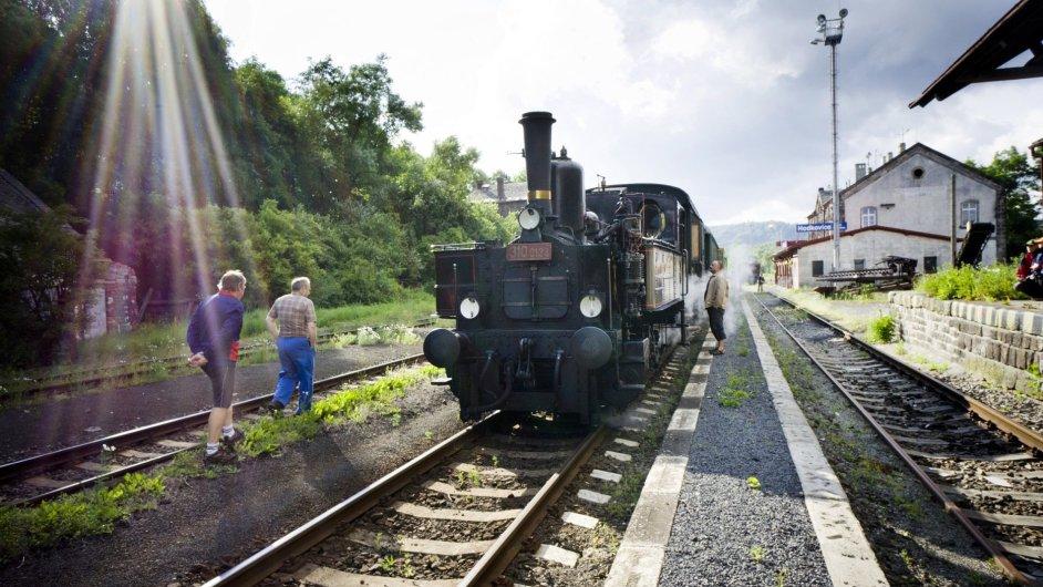 Historický parní vlak číslo 310.0134, známý pod názvem