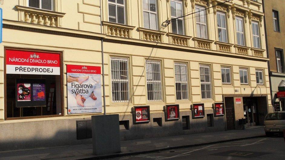 Na snímku ředitelství Národního divadla Brno v Dvořákově ulici.