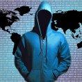 Bezpe�n� data, hacker, kybernetick� �tok, ilustrace