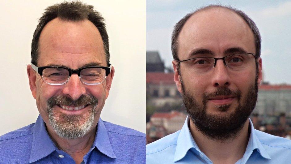 Mike Keeler, vice-prezident pro rozvoj byznysu; Martin Rehák, člen představenstva; společnost Comprimato