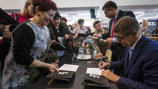 Andrej Babiš na autogramiádě v Ostravě