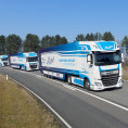 Na testování platooningu ve Velké Británii se budou podílet například společnosti DHL anebo DAF Trucks.