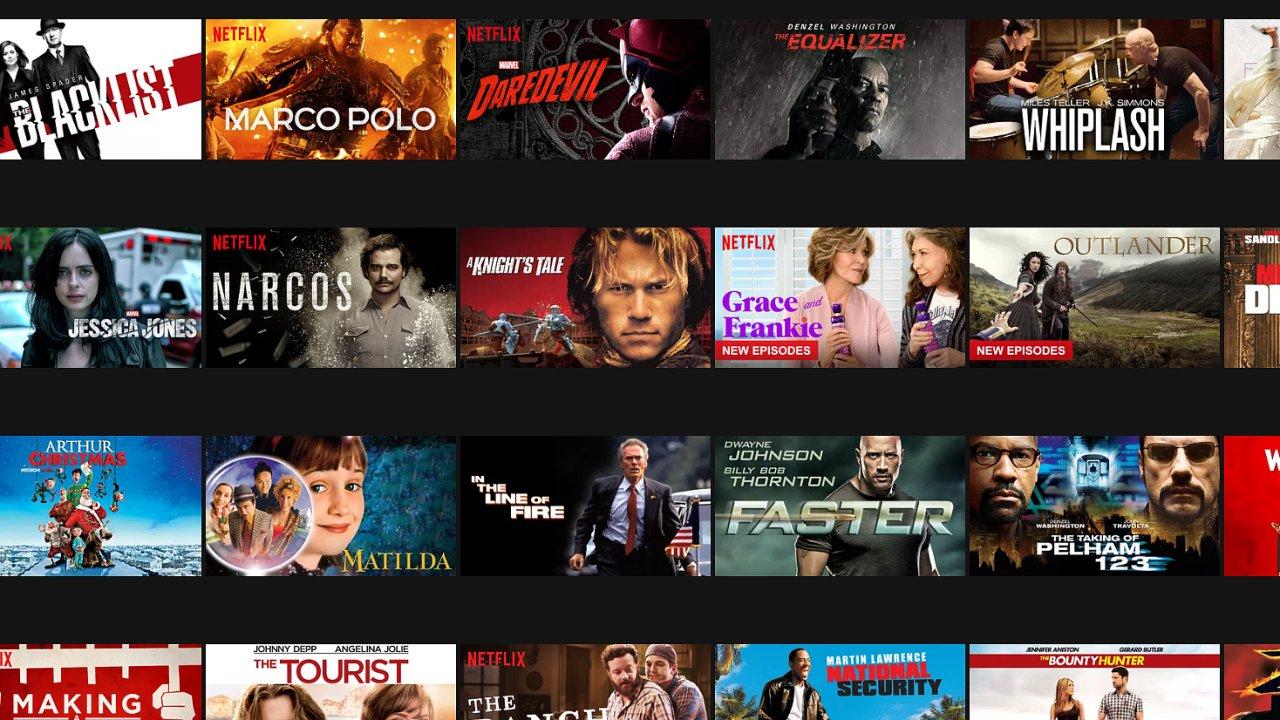 FIlmy a seriály s českými titulky na Netflixu